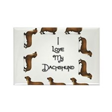 Dachshund 2 Rectangle Magnet