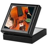 Violin &amp; Rose Keepsake Box