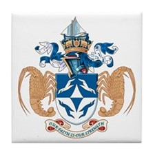 Tristan Da Cunha Coat of Arms Tile Coaster