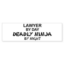 Lawyer Deadly Ninja Bumper Bumper Stickers