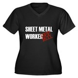 Off Duty Sheet Metal Worker Women's Plus Size V-Ne