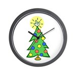 ILY Christmas Tree Wall Clock