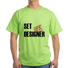 Off Duty Set Designer Green T-Shirt