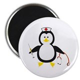"Penguin Nurse 2.25"" Magnet (100 pack)"