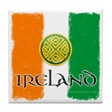 Celtic Ireland Flag Tile Coaster