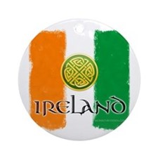 Celtic Ireland Flag Ornament (Round)