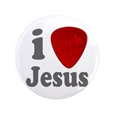 "I Pick For Jesus Guitar Pick 3.5"" Button (100 pack"