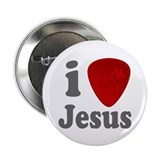 "I Pick For Jesus Guitar Pick 2.25"" Button (10 pack"