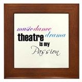Theatre Passion Framed Tile