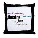 Theatre Passion Throw Pillow