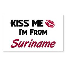 Kiss Me I'm from Suriname Rectangle Decal