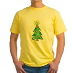 ILY Christmas Tree Yellow T-Shirt