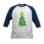 ILY Christmas Tree Kids Baseball Jersey
