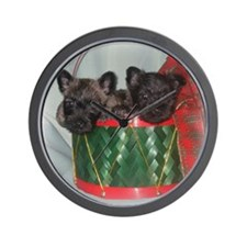 Little Drummer Cairn Pups Wall Clock