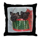 Little Drummer Cairn Pups Throw Pillow