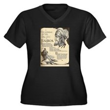Unique Balboa Women's Plus Size V-Neck Dark T-Shirt
