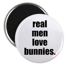 "Real Men love bunnies 2.25"" Magnet (10 pack)"