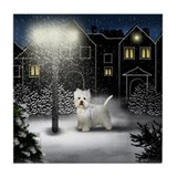WEST HIGHLAND TERRIER DOG Tile Coaster
