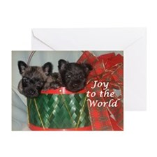 Little Drummer Cairn Pups Greeting Cards (Pk of 20