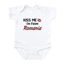 Kiss Me I'm from Romania Infant Bodysuit