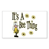 Bee Thing! Rectangle Decal