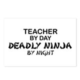 Teacher Deadly Ninja Night Postcards (Package of 8