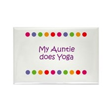 My Auntie does Yoga Rectangle Magnet