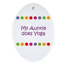 My Auntie does Yoga Oval Ornament