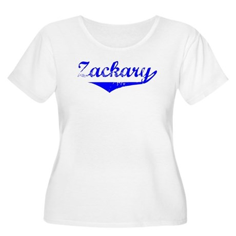 Zackary Vintage (Blue) Women's Plus Size Scoop Nec