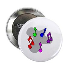"Musical Notes Design 2.25"" Button"