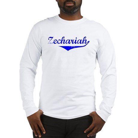 Zechariah Vintage (Blue) Long Sleeve T-Shirt