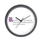 Religion, Society, Nature Wall Clock