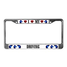 Driving Horse License Plate Frame