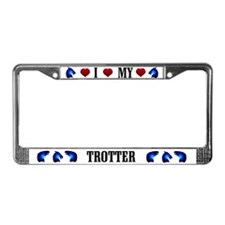 Trotting Horse License Plate Frame