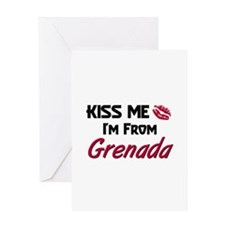 Kiss Me I'm from Grenada Greeting Card
