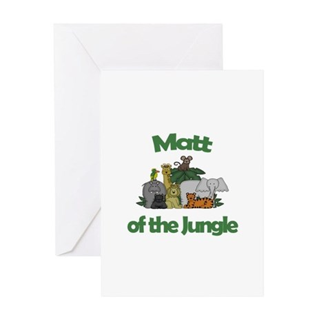 Matt of the Jungle Greeting Card