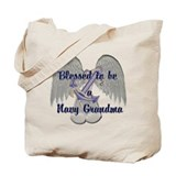 Blessed Navy Grandma Tote Bag