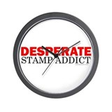 Desperate Stamp Addict Wall Clock