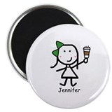 "Coffee - Jennifer 2.25"" Magnet (10 pack)"