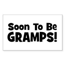 Soon To Be Gramps! Rectangle Decal