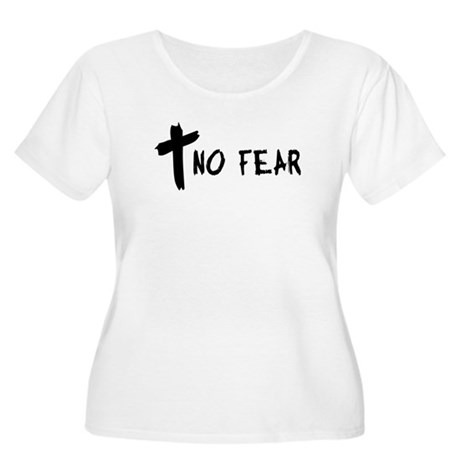 No Fear Cross Women's Plus Size Scoop Neck T-Shirt