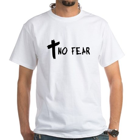 No Fear Cross White T-Shirt
