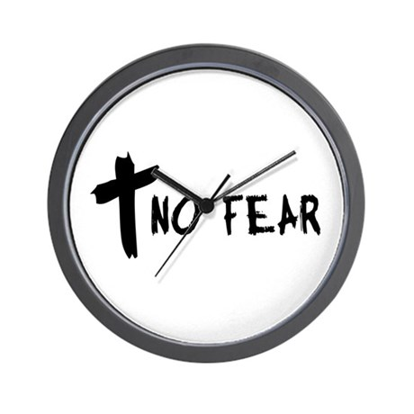 No Fear Cross Wall Clock