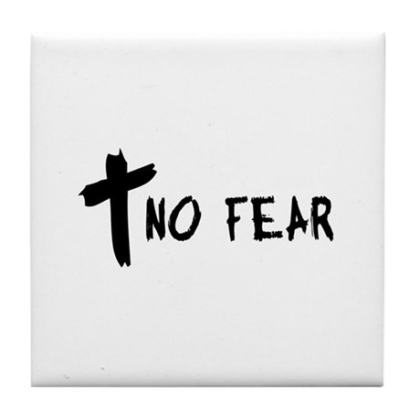 No Fear Cross Tile Coaster