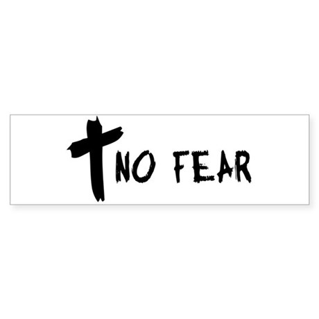 No Fear Cross Bumper Sticker