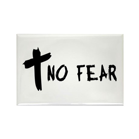 No Fear Cross Rectangle Magnet