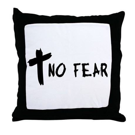 No Fear Cross Throw Pillow