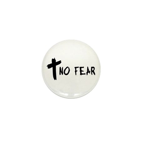 No Fear Cross Mini Button (10 pack)