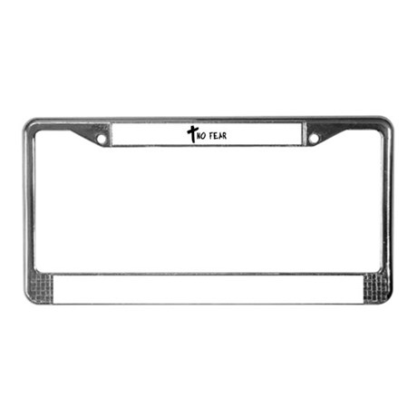 No Fear Cross License Plate Frame
