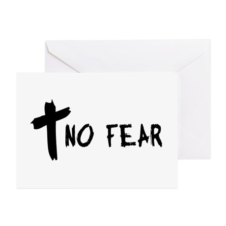 No Fear Cross Greeting Cards (Pk of 10)